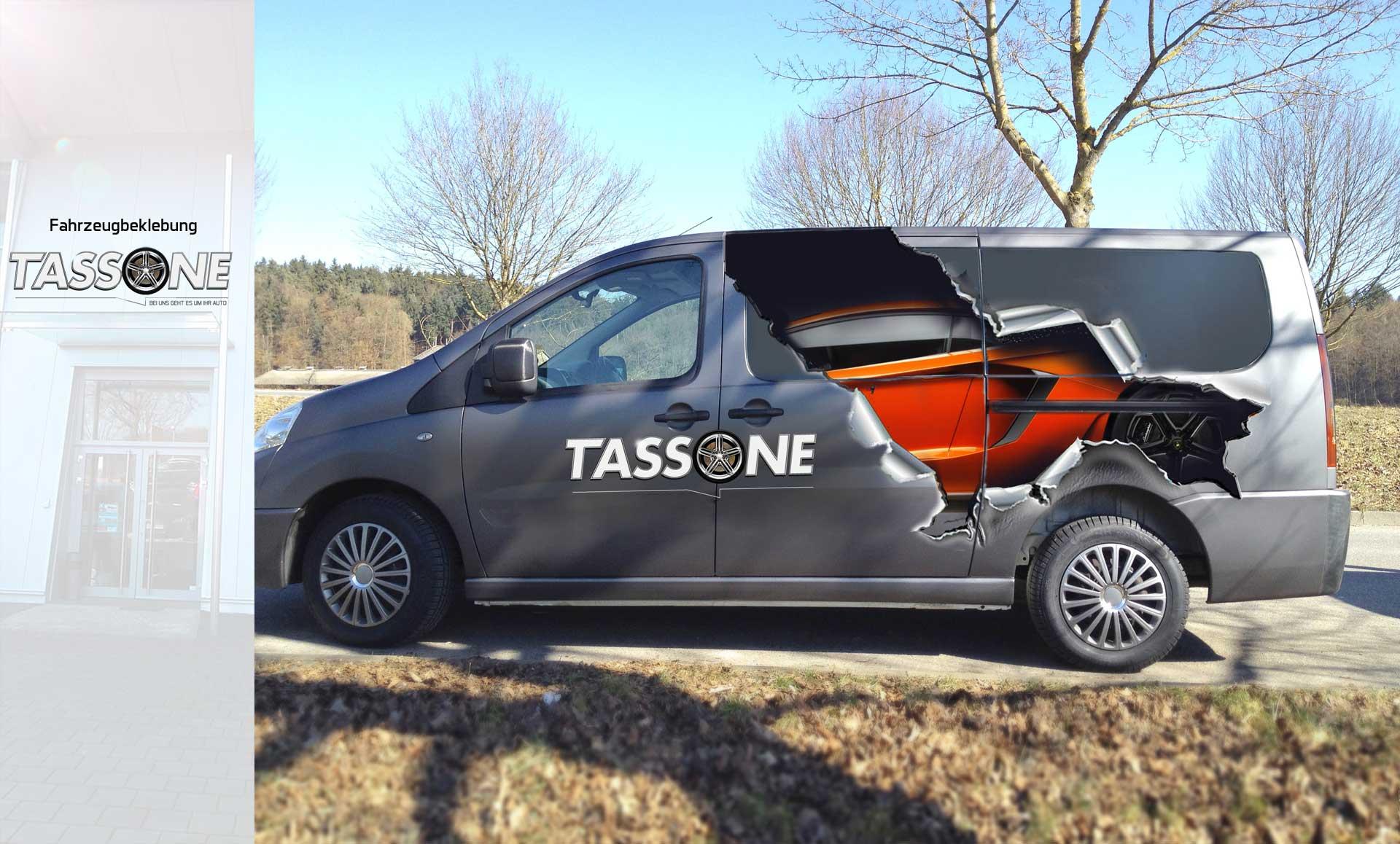 Fahrzeugbeklebung für Tassone