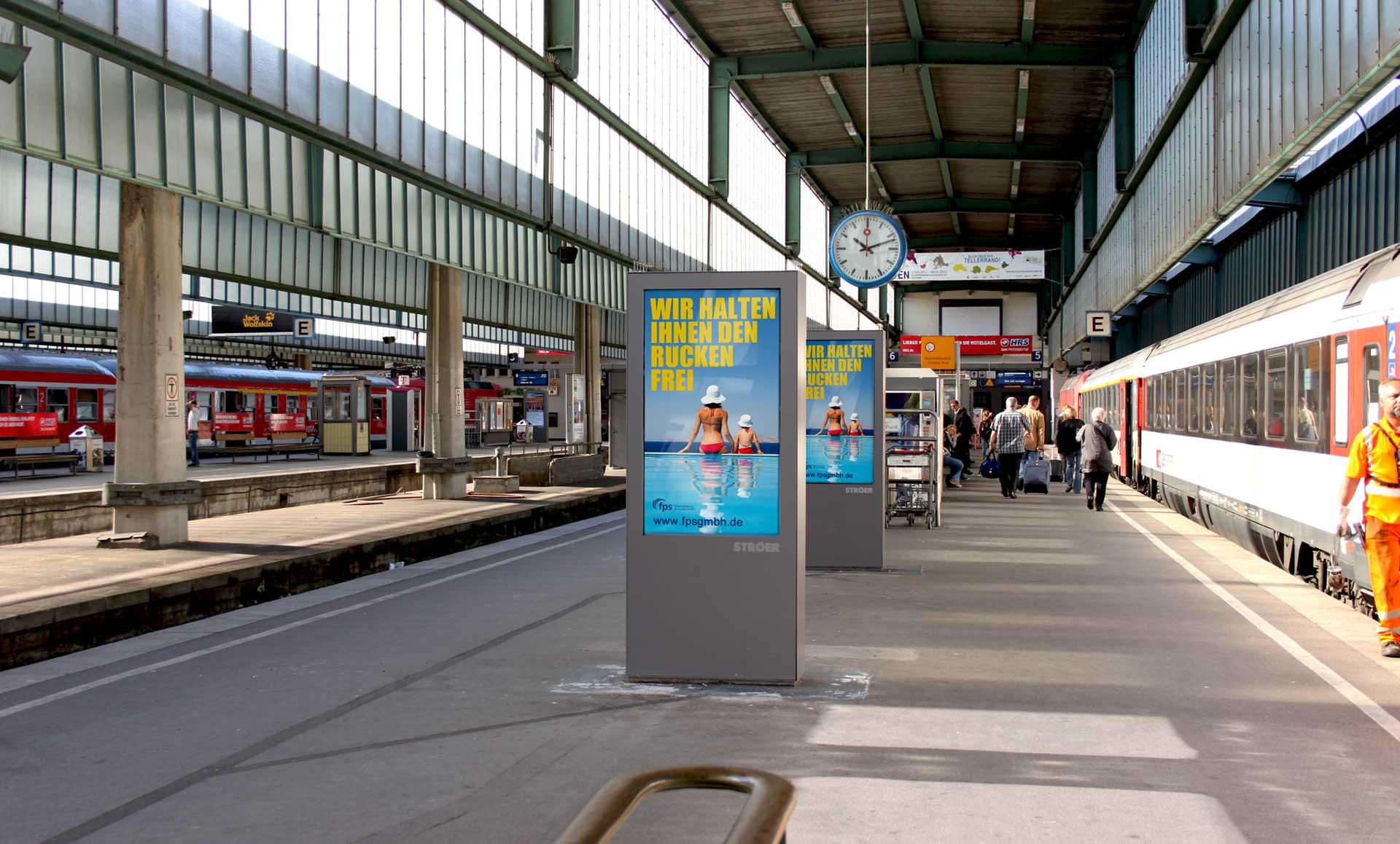 Großfläche-Bahnhof